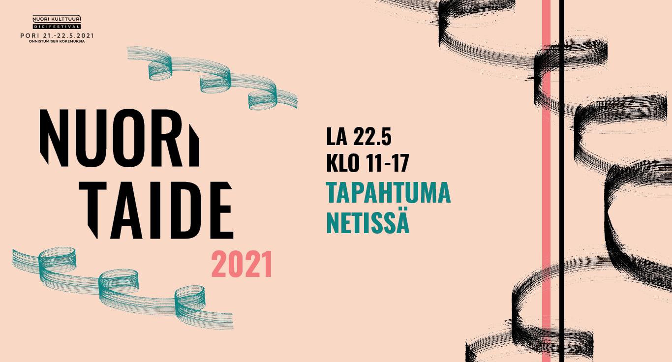 Nuori Taide 2021 -tapahtuman juliste